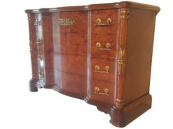 new, empire, style, commode, maple, handwork, germany, german, brass, brown, veneer, living, room, design, ornamentations