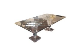 glass, table, dining, cut, acrylic, legs, high, end, smooth, living, room, luxurious, design, style, one, of, a, kind, acrylic