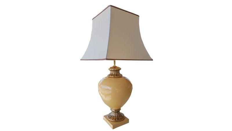 Pair Of Ceramic Table Lamps Original Antique Furniture