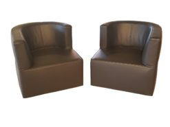pair, two, armchairs, armchair, high, gloss, black, color, wood, painted, light, hand, polished, patterns, living, room ,