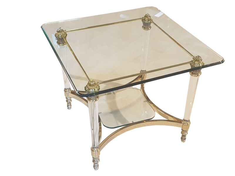 Small Glass Table From A German Manufactury Original Antique