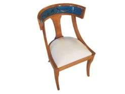 limited, edition, chair, small, german, germany, simple, design, veneer, drawers, polished, living, room, cherry, wood, hand, painted