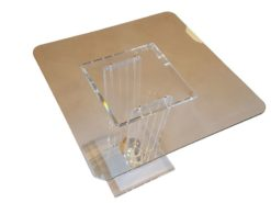 limited, edition, glass, table, small, german, germany, simple, design, veneer, drawers, polished, living, room, plexiglass, golden
