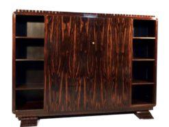 Cabinet, makassar, wood, art, deco, 1920, france, vintage, restored, mahogany, ebony, veneer, brown, new, old, solid, christian, krass