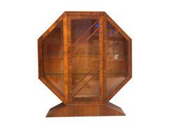 art, deco, vintage, cabinet, cabinet, brown, glass, walnut, wood, united, kingdom, retired, 1950, living, room, glass, veneer