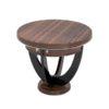 art, deco, side table, table, drawers, drawers, design, makassar, wood, furniture, chrome, veneer, living room, customizable