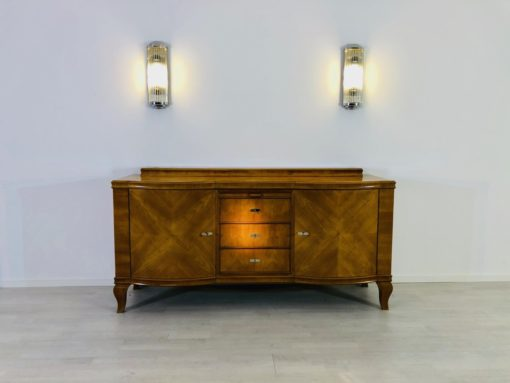 Original Art Deco Buffet made of Bright Walnut, Sideboards, Cupboards, Storage Furniture, Antiques, Design, veneer, woodworking