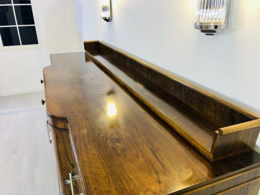Large Original Art Deco Sideboard made of Walnut, Cherry Ornamentation, Wood, Antique, Furniture, Design, Interior Design, Single Piece