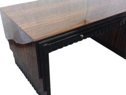 Original Art Deco Desk Set Macassar 1920s, France, furniture, luxury, antiques, restoration, tables, office furniture, macassar grain
