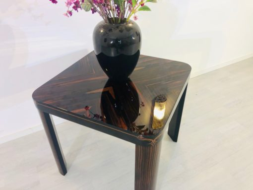 Art Deco End Table, Coffe Table, Macassar Wood, Side Table, Inlay works, Interior Design, High Gloss, Luxury, Furniture, Tables