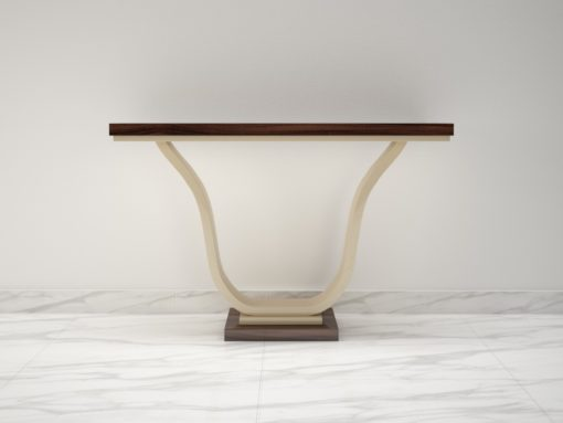 Macassar and Ivory Lacquer Design Console Table, Design Furniture, Interior Design, Luxury Furniture, Tables, Consoles, High Gloss