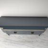 High Gloss Design Sideboard with Grey Paintjob and Brass Details 3