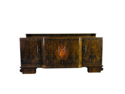 Large Original Art Deco Sideboard made of Walnut, Cherry Ornamentation, Wood, Antique, Furniture, Design, Interior Design, Single Piece