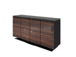 art, deco, sideboard, sideboards, design, macassar, veneer, swinging, brown, black, antique, old, new, restored, living room, wood
