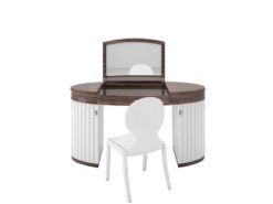 white, glossy, design, make-up, set, chair, finish, makassar, veneer, customizable, new, replica, art, deco, style, wood,