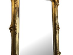 Original Florentine 1860s Antique Mirror, Wooden Gilded Frame, Original Baroque, Baroque Mirror, Gilt Mirror, Gilded Frame, Antique Wall Mirror