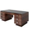 Macassar Art Deco Style desk, modern design desk, macassar veneer, luxury furniture, interior design, high gloss, modern living
