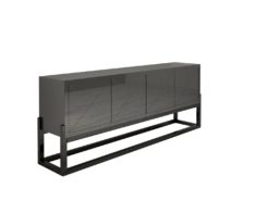 Modern Design Sideboard with a High Gloss Finish, Dark grey paintjob, high end furniture, piano lacquer, made in germany, furniture, interior design
