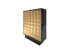 cabinet, gold leaf, diamond, pattern, piano lacquer, furniture, old, new, replica, art, deco, style, style, design, cabinets, storage