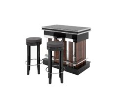 macassar, chrome, macassar, wood, design, piano lacquer, bar, stool, leather, suede, cover, customizable, changeable, art, deco