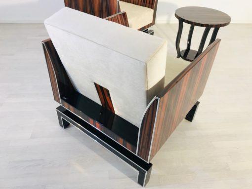 Design armchairs, interior design, luxurious furniture, macassar wood, design furniture, custom furniture, leather, piano lacquer, chrome