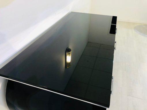 Free floating design desk, hand polished finish, custom desks, interior design, project furniture, chrome details, luxury items
