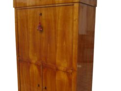 Biedermeier Secretary with Cherrywood Veneer, Biedermeier Secretaire, Antique Secretary, Original Biedermeier Furniture, Biedermeier Desk
