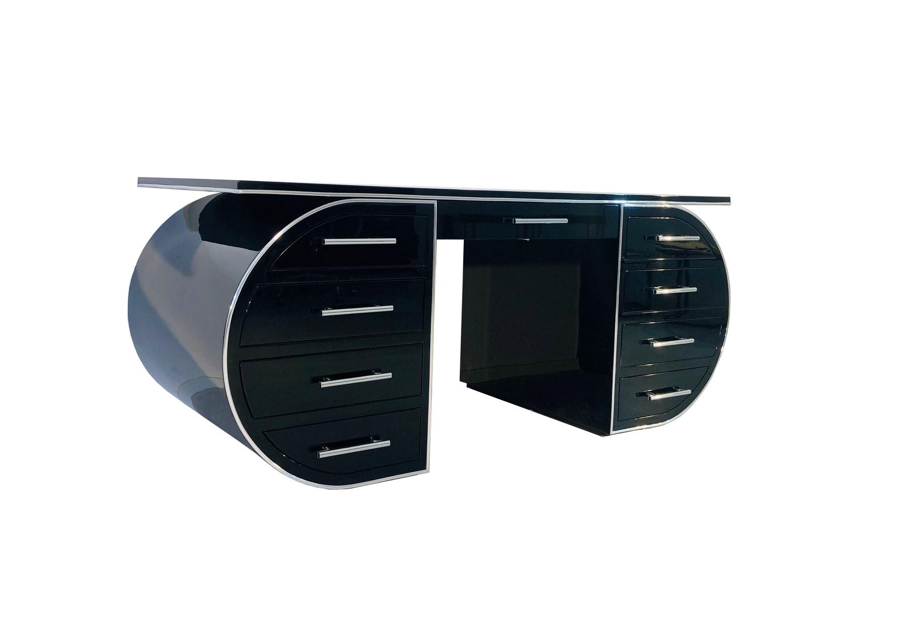 High Gloss Black Design Desk Original