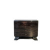 Chest of Drawers or commode with macassar fronts and curved foot, design furniture, art deco style, interior design, luxury furniture