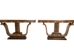 1940s Pair of Art Deco Console Table from Italy made of Walnut, italian furniture, console tables, interior design, vintage tables, luxury furniture