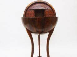 Globe Sewing Table Biedermeier Style made of Walnut, bar table, globe table, side table, interior design, replica, high end, home decor