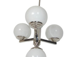 Polychromed Bauhaus Chandelier 1930s Glass Globes, bauhaus lighting, original bauhaus pieces, polychromed pendant, art deco lighting