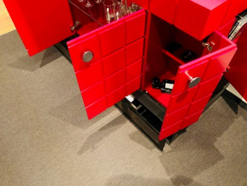 Modern Design TV Lift Sideboard in Fire Red, TV rack, modernd design furniture, interior design, home decoration, luxury sideboard, furniture