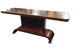 1920s Walnut and Poplar Art Deco Burl Wood Console Table from Italy, original antique furniture, art deco furniture, tables, interior design