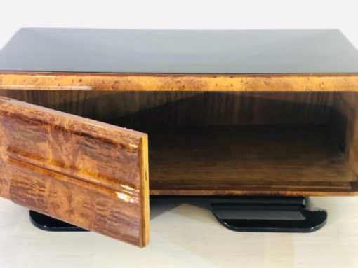 1930s Art Deco Low Commode with Curved Walnut Front, antiques, furniture, design furniture, interior design, high gloss, french furniture