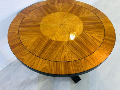 Art Deco End Table made of Ash and Cherry Wood Paris 1930s, Art Deco furniture, design furniture, interior design, luxury table, high gloss
