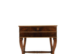 Walnut and Maple Biedermeier Sewing Table or Side Table around 1830, sewing table, antiques, biedermeier furniture, side table, luxury antiques