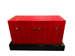 Modern Design TV Lift Sideboard in Fire Red, TV rack, modernd design furniture, interior design, home decoration, luxury sideboard, furniture