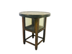 1910s Historicism Side Table or End Table with Egyptian Hieroglyphics, Eygytian revival, interior design, antique table, oak wood