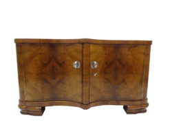 Bookmatched Burl Art Deco Commode or Small Sideboard, Original Antique furniture, modern art deco furniture, design furniture, antiques, high end, luxury
