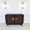 French Palisander Commode or Small Sideboard Brass Handles 10