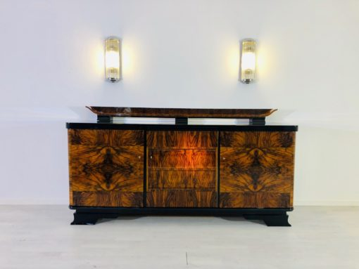 1920s Art Deco Sideboard Made of Caucasian Walnut and Shellac Finish, Interior Design, Antiques, Vintage, Luxury furniture, french furniture, design