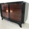 French Palisander Commode or Small Sideboard Brass Handles 3