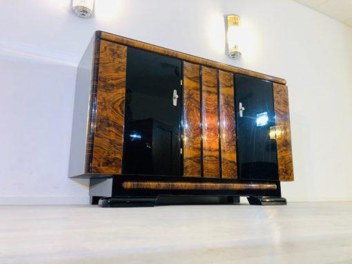 Walnut and Macassar Art Deco Sideboard from Germany 1940s, walnut wood, antiques, restoration, interior design, modern art deco furniture