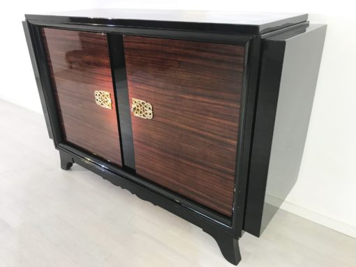 French Palisander Commode or Small Sideboard Brass Handles, Art Deco Furniture, Design Furniture, Luxury Furniture, Commodes, Sideboard, Antiques