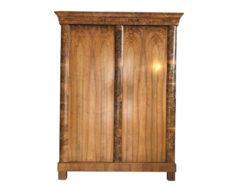 Biedermeier Walnut Cabinet Wardrobe or Armoire, Original Bierdermeier, Bierdermeier Carbinet, Walnut Amoire, Walnut Carbinet