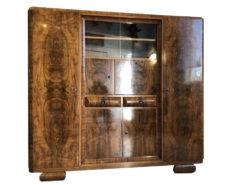 Vintage 1930s Book Cabinet with a Stunning Walnut Grain, Vintage Carbinet, Book Carbinet, 1930 Furniture, 1930s Carbinet, Walnut Grain, Art Deco Style