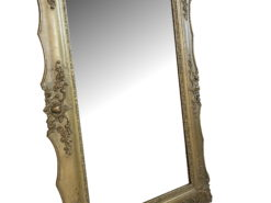 Large Antique Wall Mirror from the Biedermeier Period, Wall Mirror, Golden Mirror; Antique Mirror, Bierdermeier Mirror, Large Mirror