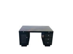 Art Deco Macassar Wood Desk with a High Gloss Finish, art deco furniture, macassar items, interior design, office furniture, luxury office