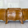 Rare 1920s Curved Art Deco Sideboard with Floral Motivs 6